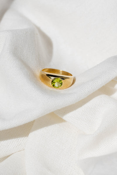 Gypsy Ring - Peridot - shoparo