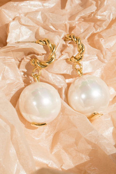 Interlace Pearl Earrings - shoparo