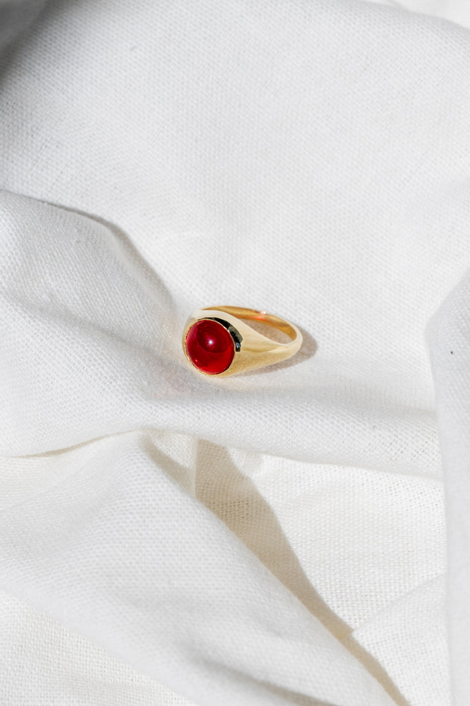 Primary Ring - Red Obsidian - shoparo