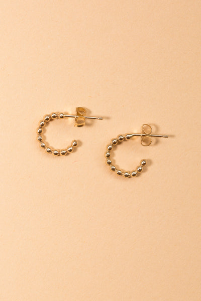 Beaded Hoop Earrings - shoparo