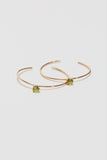 Hoops Earrings with Stone - shoparo