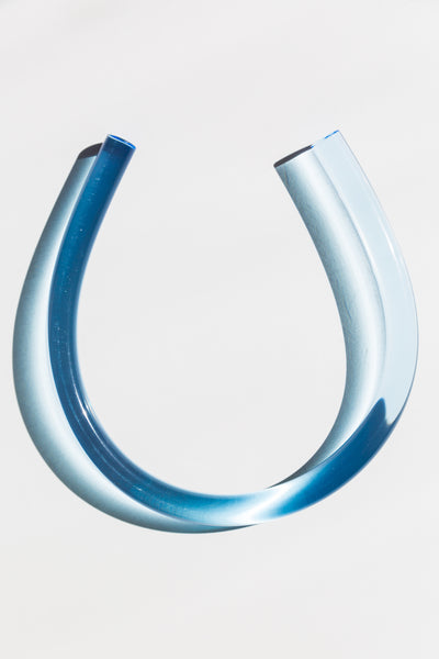 Horseshoe Necklace in Blue - shoparo