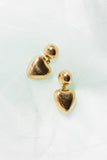Heart Drop Earrings - shoparo