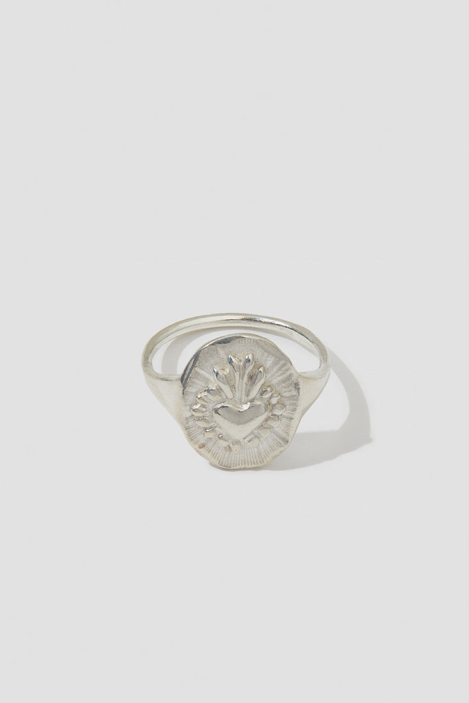 Corazon Mini Signet Ring - shoparo