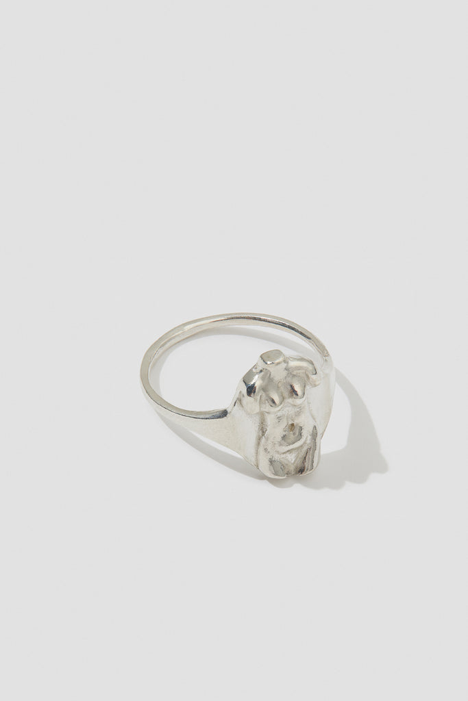 Mujeres Mini Signet Ring - shoparo