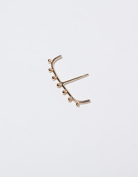 Am Thorne Granule Staple Earring