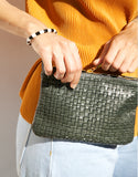 Cab Collection Ryder Mini Basket Weave Fanny Pack