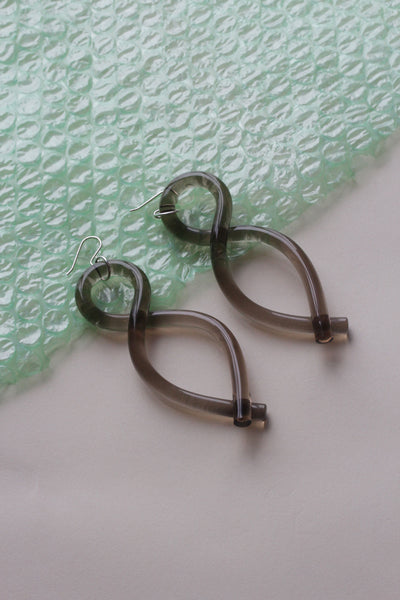 Twist Earrings in Bronze