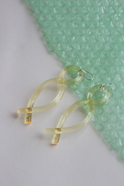 Twist Earrings in Yellow