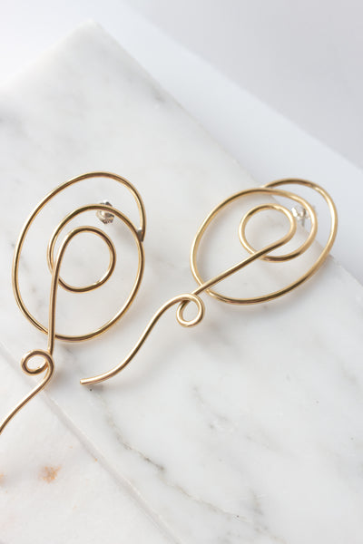 Petite Spirula Earrings - shoparo