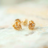 Diamond Dewdrop Rose Stud