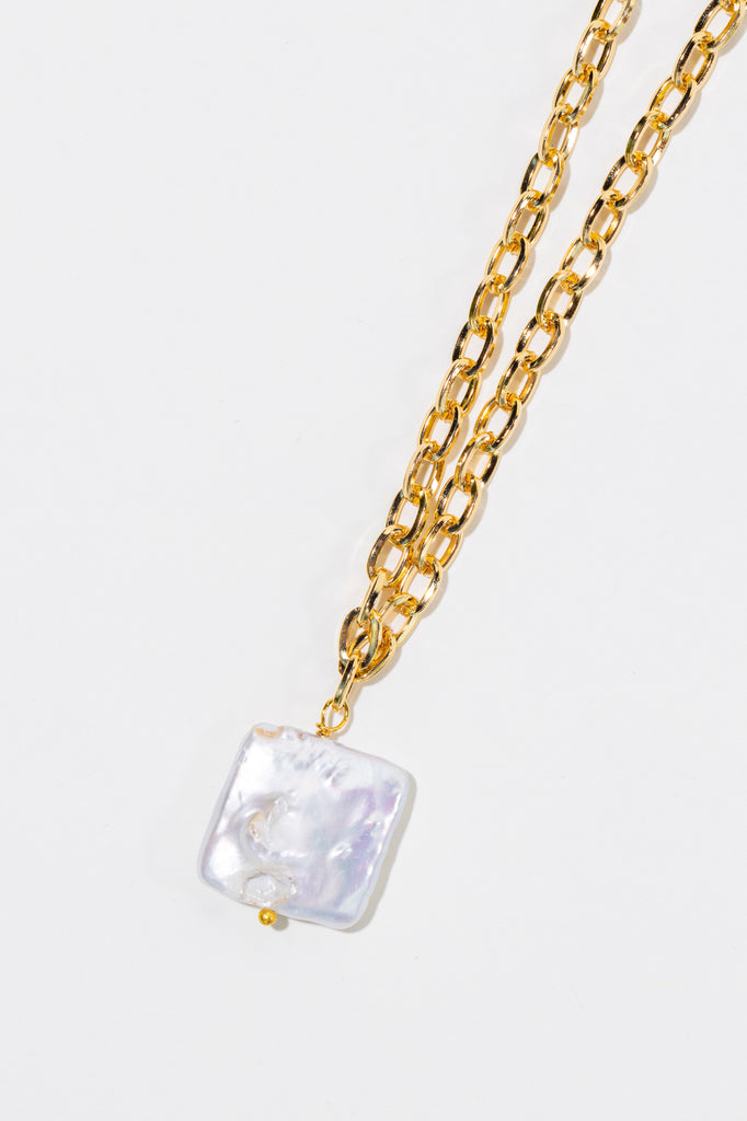 Square Pearl Necklace - shoparo