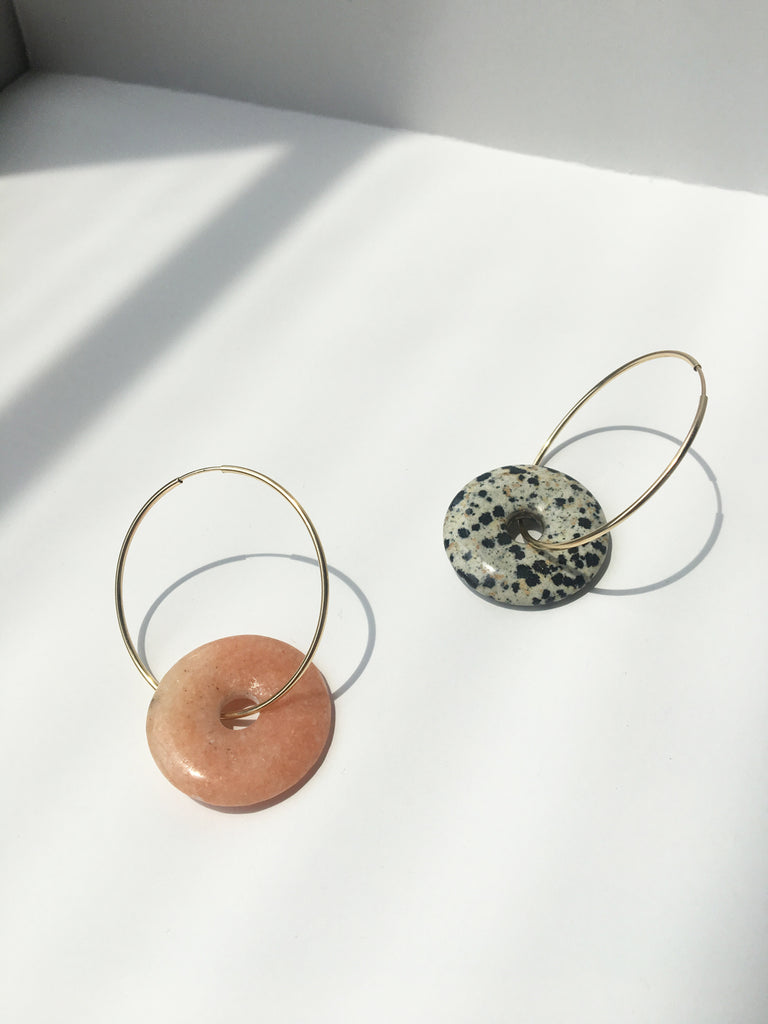 Cycle Hoops in Dalmation Jasper