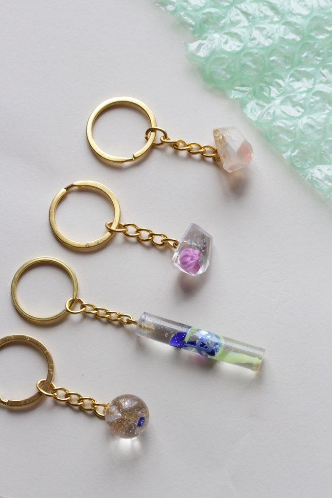 Resin Cluster Keychains