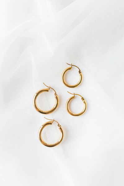 Set of XS + Small Hoop Earrings