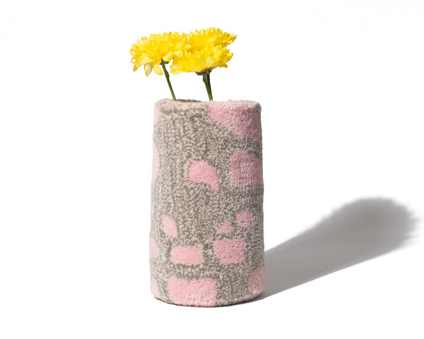 Tufted Vase - Pink/Grey - shoparo