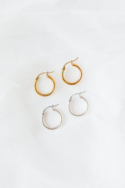 Set of 2 XSmall Hoop Earrings
