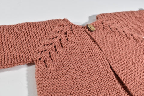Norwegian Fir baby cardigan at Calico and Ivy, Perth