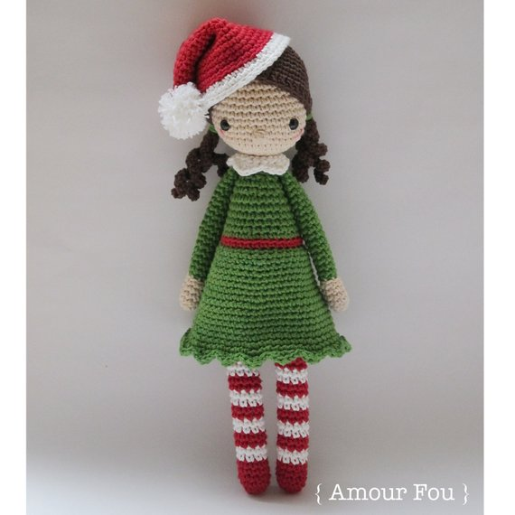 Amigurumi Class:  Cornelia, Santa's best helper.  3 weeks, from Monday 13th to 26th November 2018.