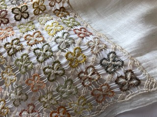 Sophie Digard Pollen Hand Embroidered Scarf
