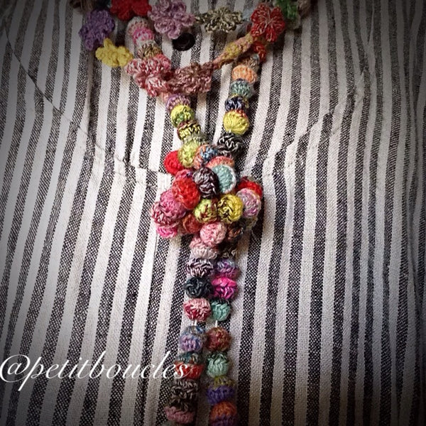 Petit Perl Crocheted Necklace workshop at Calico and Ivy