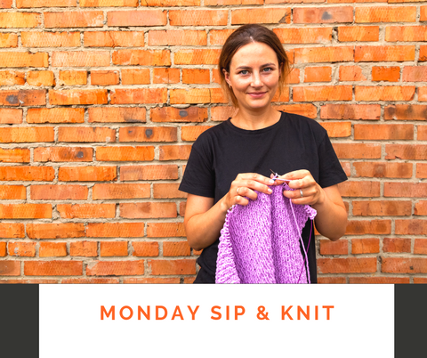 Sip & Knit class every Monday night at Calico and Ivy