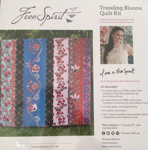 Travelling Blooms Quilt Kit
