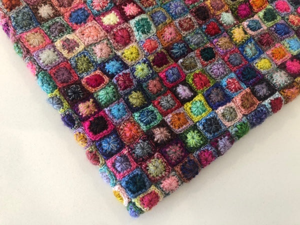 tiny crochet square scarf workshop at Calico and Ivy