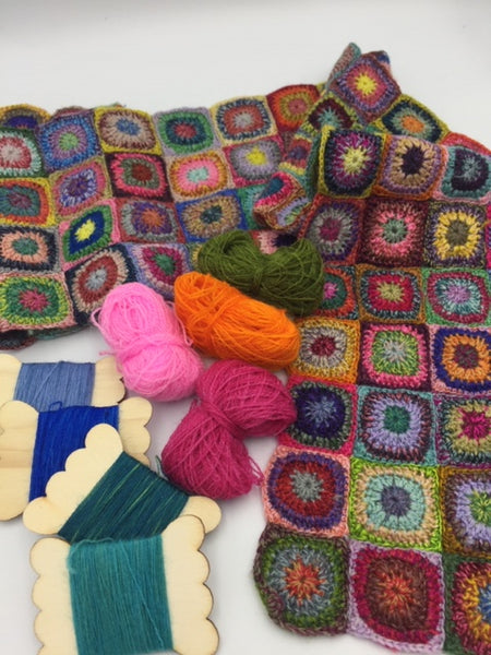 Miniature crocheted class at Calico and Ivy