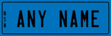 custom license plates small printed onto aluminium with extra optional UV protection etc to make them last outdoors. Great for use on ride on cars, bikes and used as vanity plates, door signs, key chains