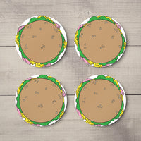 Custom Printed Photo Coaster - Round Set of 2