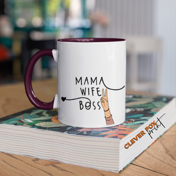 Gifts for Mum |  Mama, Wifey, Boss | Peace Sign Hands