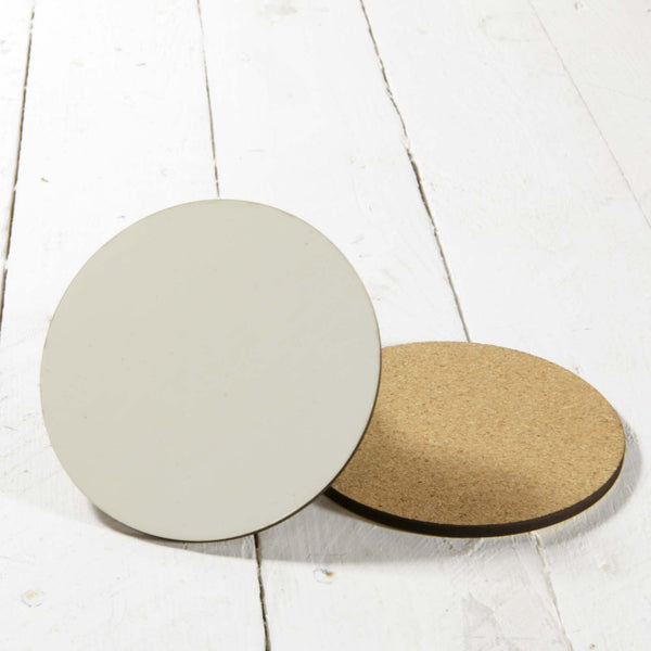 Custom Hardboard Coasters with Cork Back 95 mm Round | Square