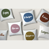 Personalised Printed Name Cushions | Signature Dot