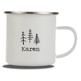 Personalised Enamel Camping Mug | Adventure Badges