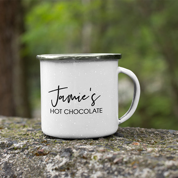 Personalised Gift Pack | Camping Mug + Hot Chocolate + Marshmallows + Spoon