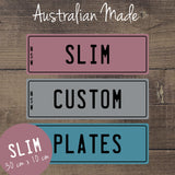 Personalised Name Novelty Licence Plates Assorted Colours