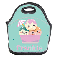 Insulated Neoprene Lunch Bag Tote - Personalised Lunch Box