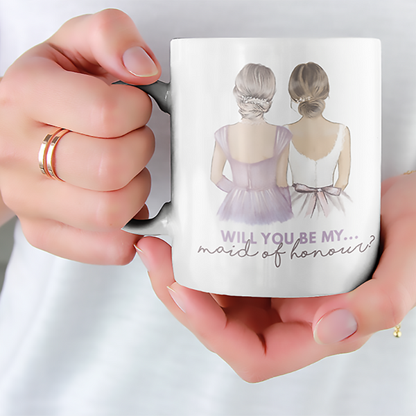 Magic Colour Change - Reveal Mugs - Wedding