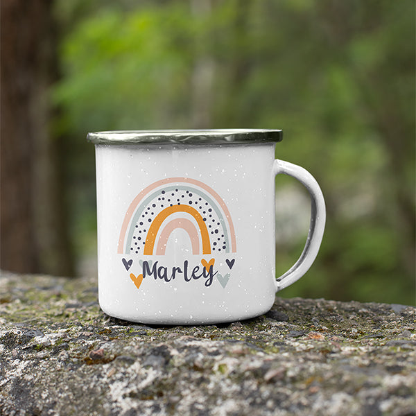 Personalised Gift Pack for Kids | Camping Mug + Hot Chocolate + Marshmallows + Spoon
