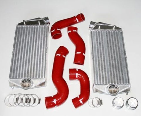 Forge Big Intercooler Kit With Silicone Hose Kit - Porsche 996 Turbo / GT2 (2001 - 2005)