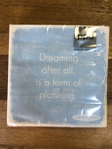 """Dreaming"" Cocktail Napkins"
