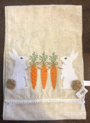 Carrot Bunny Table Runner