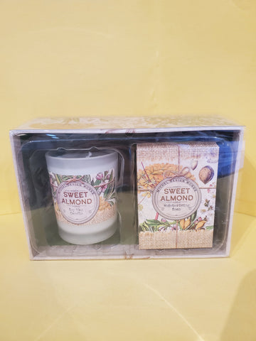 Sweet Almond Candle and Soap Gift Set