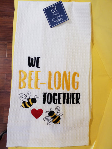 We Bee-Long Together Kitchen Towel