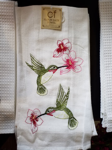 Hummingbird Flour Sack Towel
