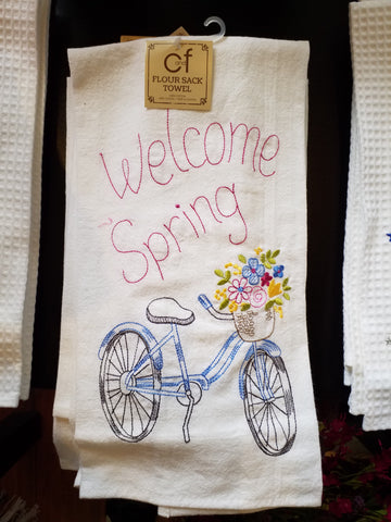 Welcome Spring Flour Sack Towel
