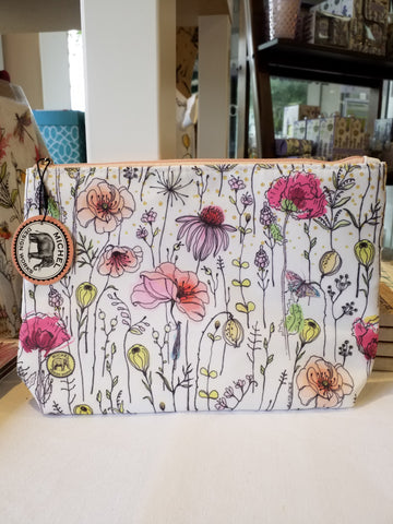 Posies Large Cosmetic Bag