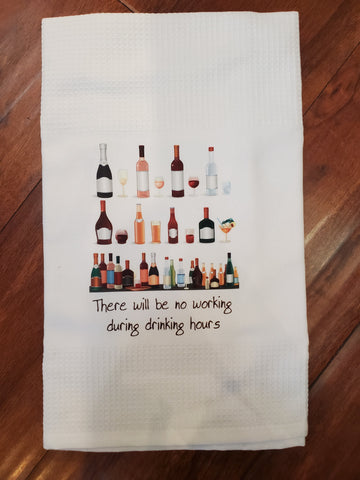 Drinking Hours Tea Towel