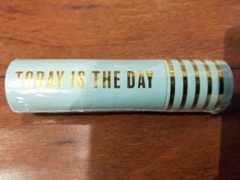 Today Is The Day Teal Tube Matchbox With Safety Matches